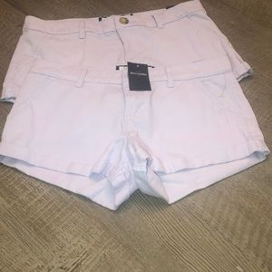 Purple low rise shorts